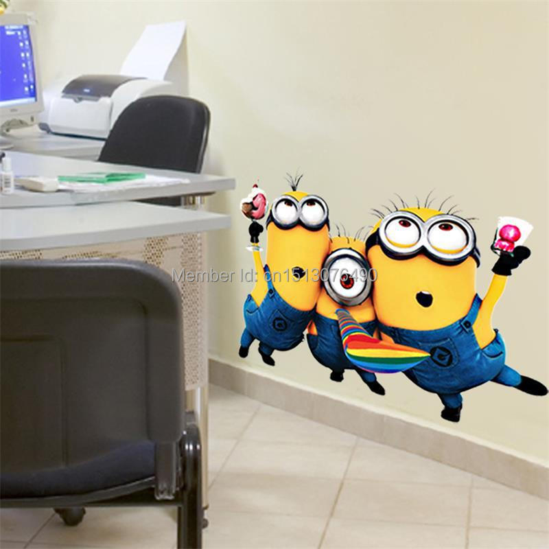 minions wall sticker decoration for kids rooms cheap wall decals but still beautiful home design