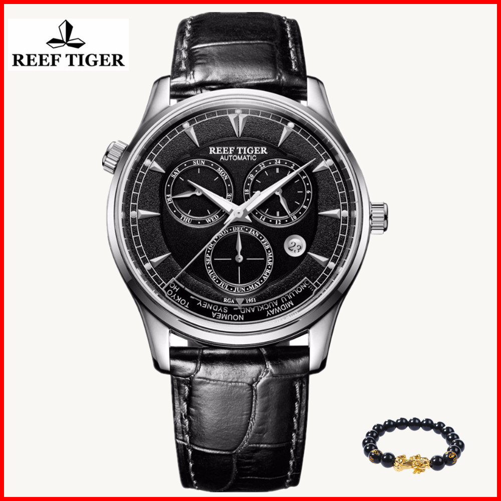 Mens watches top brand luxury Reef Tiger Automatic Watches for Men Date Leather Strap Watch waterproof clock men wrist watchesMens watches top brand luxury Reef Tiger Automatic Watches for Men Date Leather Strap Watch waterproof clock men wrist watches