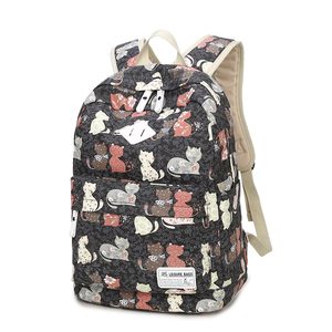 Image 2 - ZENBEFE Cute Backpack Quality Women Backpack Printing Backpacks For Girls Cat Pattern School Bag ForTeenagers Backpack Female