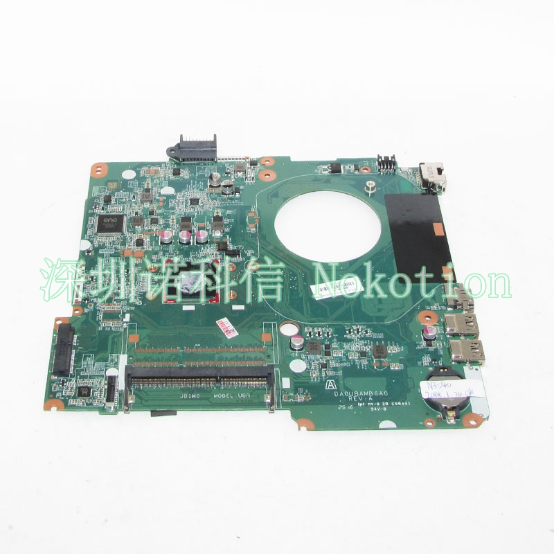 NOKOTION 828166-601 828166-501 828166-001 DA0U8AMB6A0 Laptop motherboard For HP Pavilion 15-F 15.6 SR1YW N3540 CPU onboard DDR3 sheli for hp 15 15 f motherboard with n3050 cpu 828168 001 828168 601