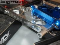 Для Honda DIO50 AF18 AF28 двухтактный скутер изменение ЧПУ Алюминиевый сплав двигателя Удлиненная сзади 5 см вешалка кадр