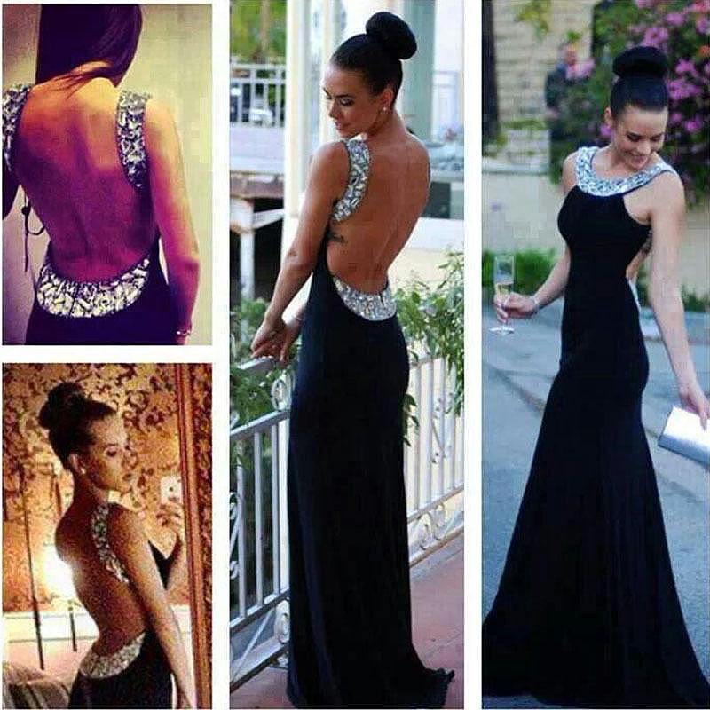 Collares para vestido negro largo