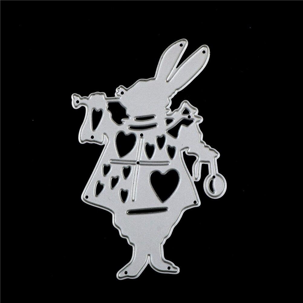 Alice Wonderland White Rabbit Metal Cutting Dies Stencil DIY Album Deco Craft SP