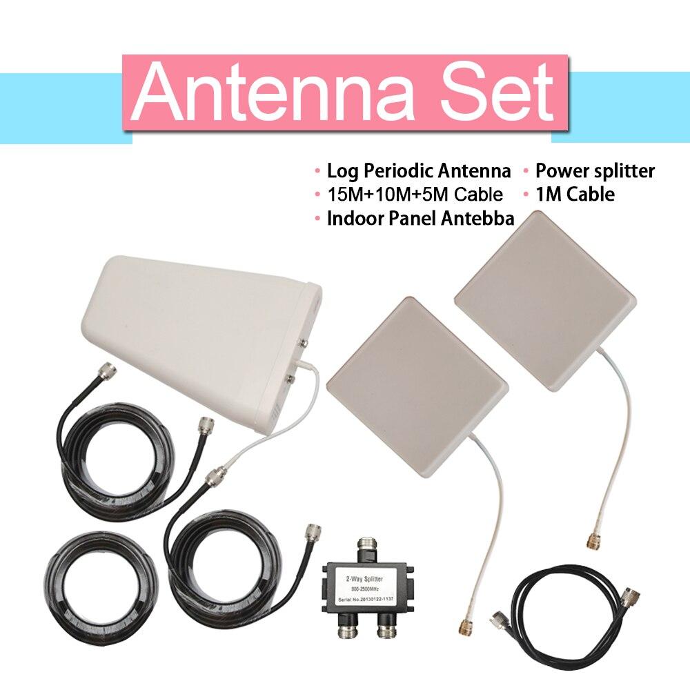 Antenne GSM CDMA 3G WCDMA 4G LTE pour amplificateur de Signal antenne périodique journal 10dBi + antenne panneau 9dBi + câble Coaxial 15 mètres