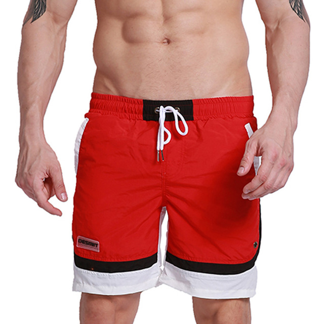 DESMIIT Brand Men Beach   Board     Shorts   Man Bermuda Surfing Swim   Short   Swimming Swimwear Patchwork Quick Dry Inside Mesh Liner