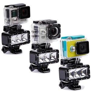 Image 5 - Go Pro 30 m Lặn Led Flash Ánh Sáng Dưới Nước lamp (2xHero4 Pin) cho GoPro Hero 6 5 3 + Phiên Xiaomi yi 4 K + lite SJCAM sj4000