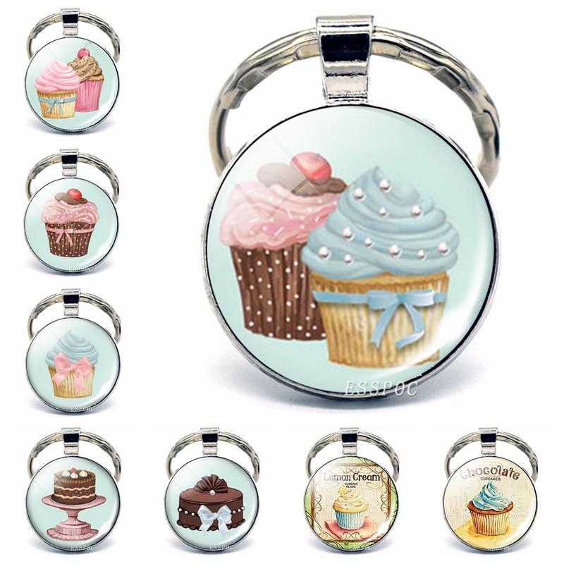 Cupcakes Cream Ice Cream Custom Guitar Pick Pendant Necklace Keychain