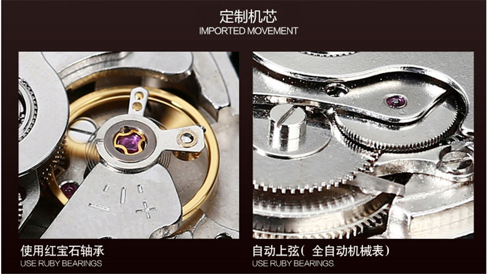 2017 KINYUED skeleton Tourbillon mechanische horloge waterdicht - Herenhorloges - Foto 6