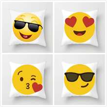 Fuwatacchi Cute Cartoon Style Pillow Covers Emoticon Cushion for Home Sofa Chair Decoration Yellow Pillowcases 2019