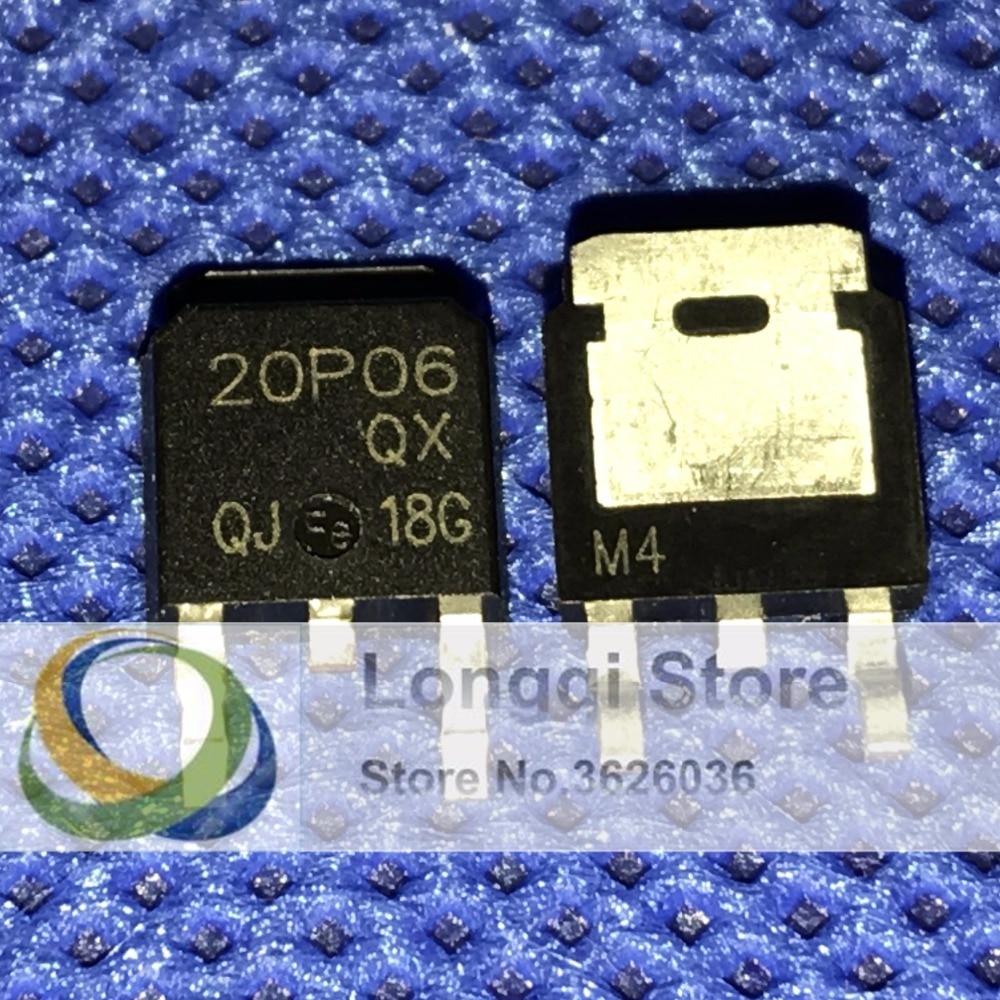 10PCS 20P06 TO-252 P Channel Enhancement Mode MOSFET PNP 20A 60V 20pcs lot 60v fd2955 to 252