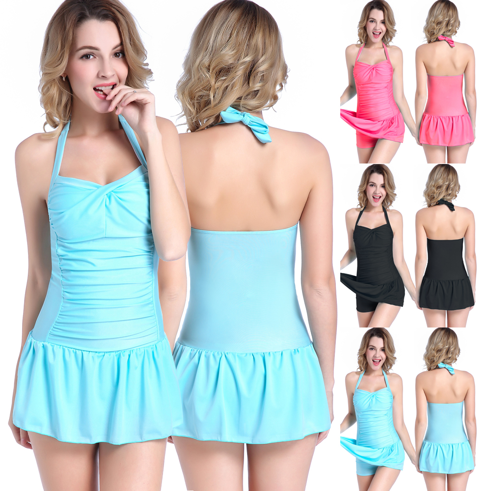 Plus Size One Piece Swimsuit Women Swimwear Summer Girls Beach Dresses Solid Monokini Maillot Bodysuit Female Bathing Suit plus size zigzag backless one piece swimsuit