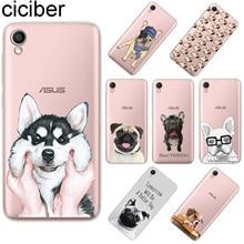 ciciber For ASUS ZenFone Live L1 V 3 GO Zoom S Soft TPU Phone Case For ASUS ZenFone MAX Lite Plus Pro M1 Cute Pug Dog Coque Capa