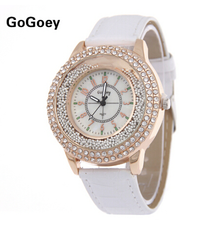Luxury Brand Leather Crystal Quartz Watch Women Ladies Fashion Bracelet Wrist Watch Wristwatches Clock Female Relogio Feminino
