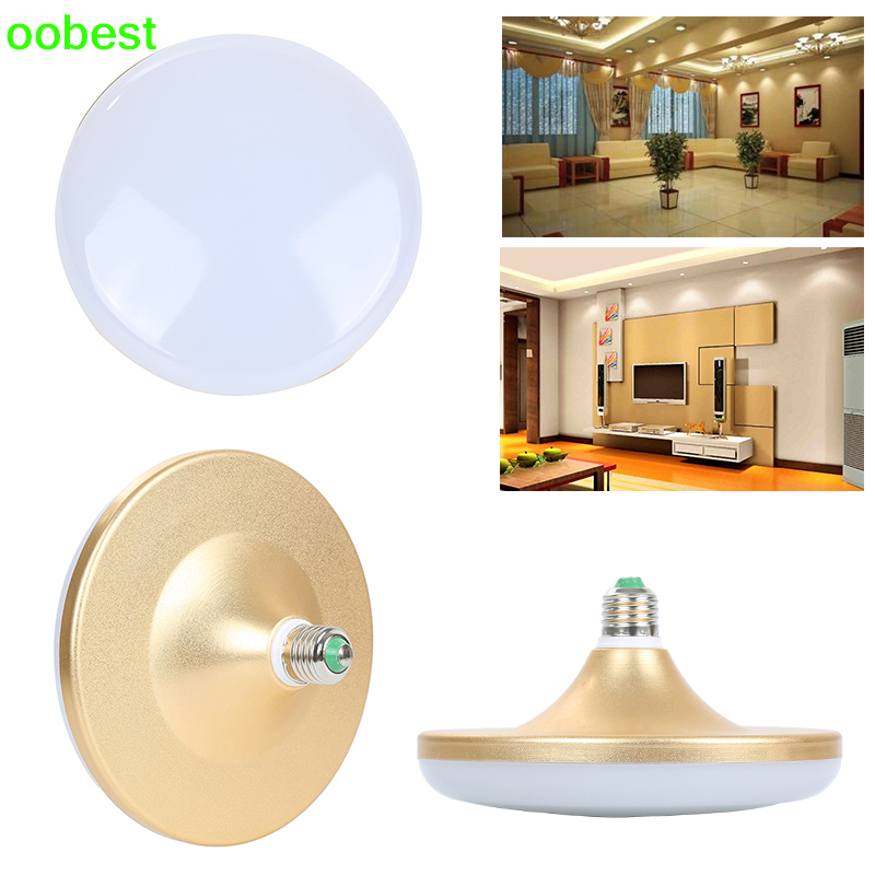 oobest New UFO Led Bulb Lamp SMD5730 E27 36W LED Bulb Saucer Light Lamp Cool White AC85-265V High Brightness Newest 50w e27 120 leds ufo light bulb