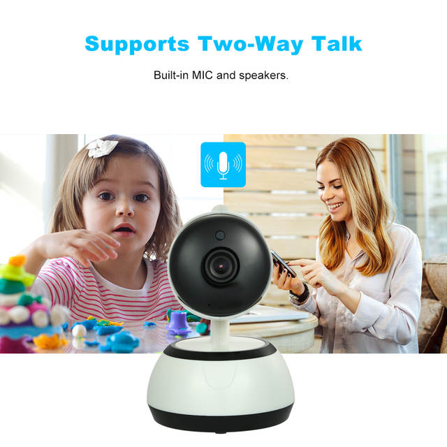 US $24 51 30% OFF|HD 720P IP Cloud Camera Surveillance Security Wifi IP  Camera Cloud Storage P2P Phone APP Two Way Audio+TF Card Slot Baby  Monitor-in