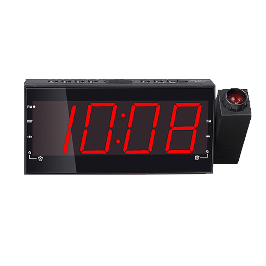 Digital Alarm Clock Multifunction With LED Projection FM Radio YMP