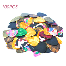 Wholesale 100pcs Celluloid Picks Acoustic Electric Guitar Picks Plectrums Assorted Free Shipping