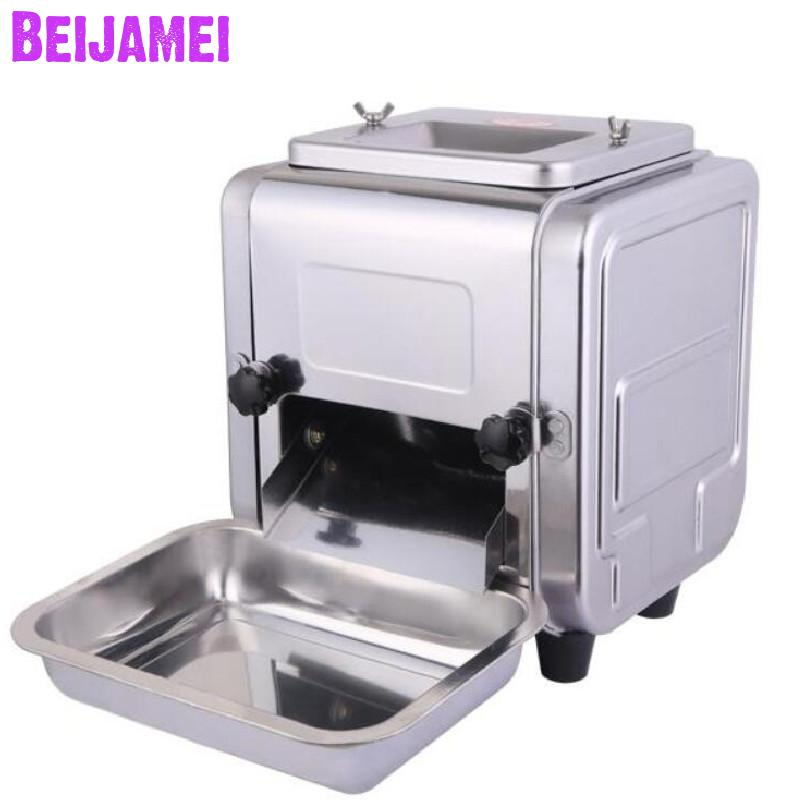 Beijamei Lower Price Desktop Meat Slicer Stainless Steel Meat Grinder Commercial Electric Meat Cutting Machine Cutter
