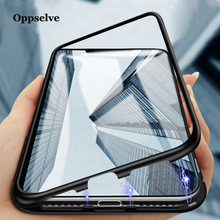 Luxury Magnetic Adsorption Phone Case For iPhone X Xs Max Xr 8 7 6 Plus Samsung S9 S8 Note 9 8 Metal Magnet Tempered Glass Cover phone camera lens 9 in 1 phone lens kit for iphone x xs max 8 7 plus samsung s10 s10e s9 s8