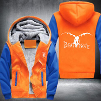 New Winter Jackets And Coats Death Note Hoodie Anime Hooded Thick Zipper Men Cardigan Sweatshirts USA
