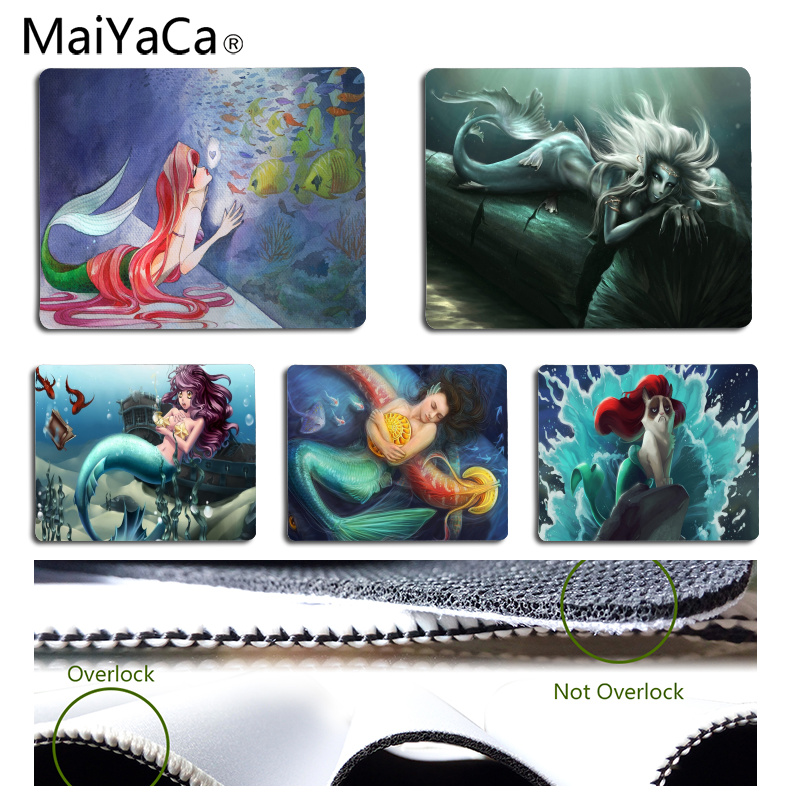 MaiYaCa In Stocked Merman Customized laptop Gaming mouse pad Size for 180*220*2mm and 250*290*2mm Mousepad