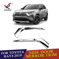 4pcs ABS Chrome Rear View Side Mirror Cover Decoration Trims For Toyota RAV 4 Car Accessories 2019 2020