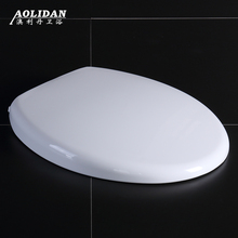 2017 Resin Toilet Lid Hot Sale Washlet  Toilet Seat Cover General Old-fashioned Type O V U Thick Old Slow Down Board