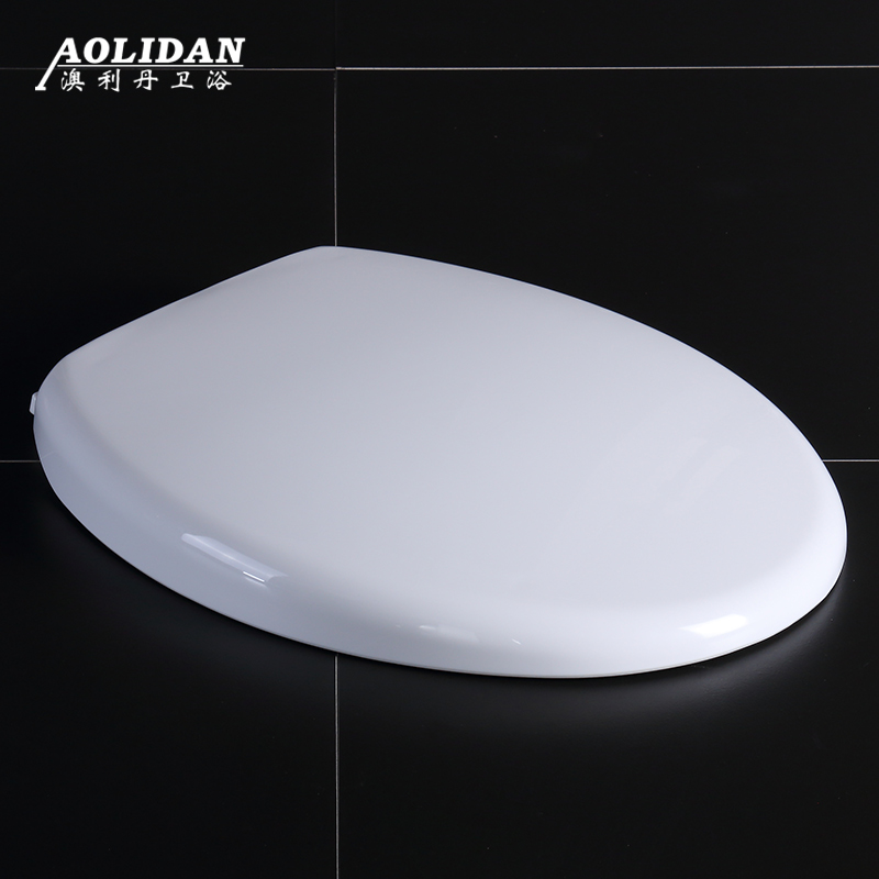 2017 Resin Toilet Lid Hot Sale Washlet Heated Toilet Seat Cover General Old-fashioned Type O V U Thick Old Slow Down Board