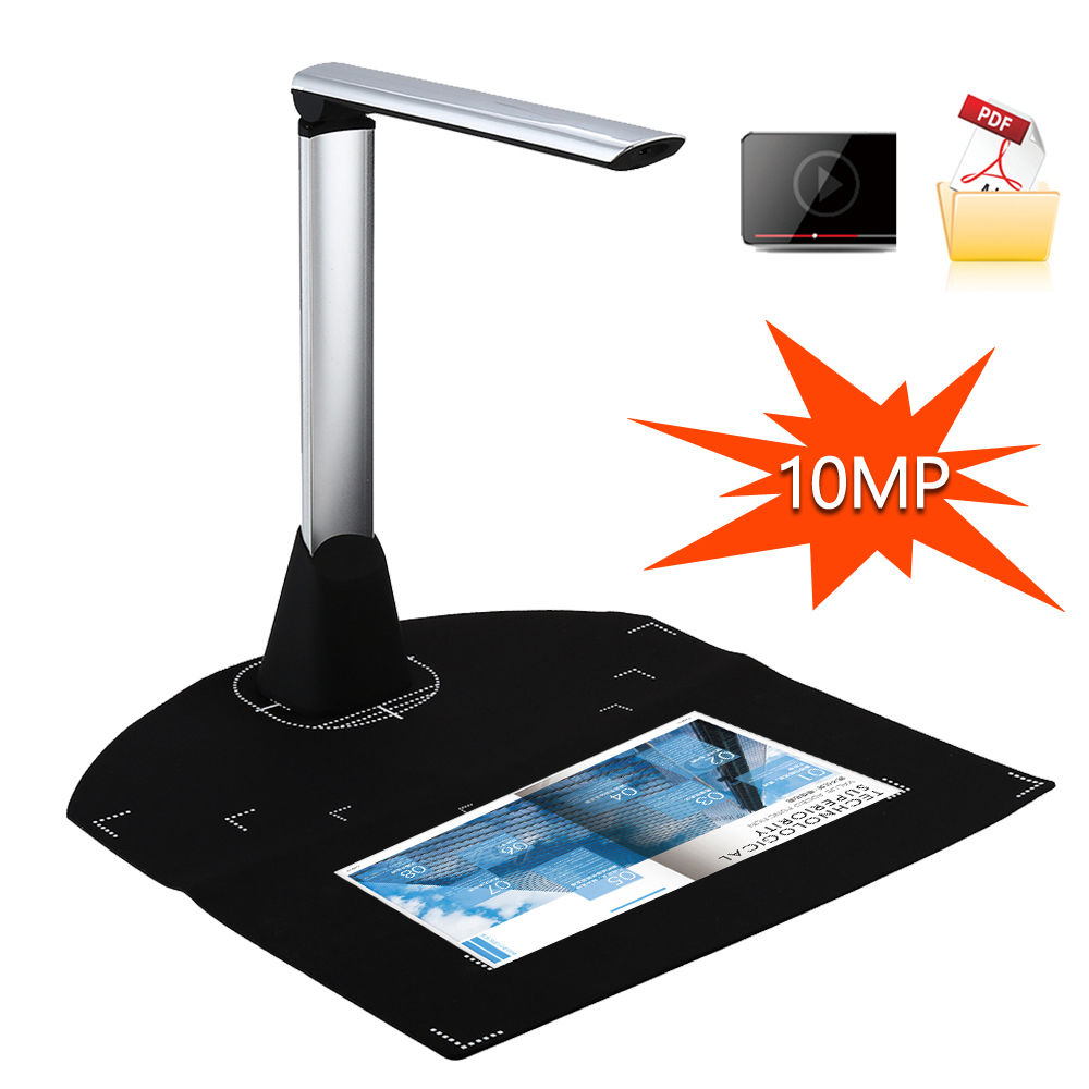 L1000 Portable HD 10MP 3672x2856 USB Camera Photo Image Document Book A3/A4 Scanner Visual Presenter High Speed OCR Scanner A3 document scanner 8 0 mega pixel a4 large format 24 bit usb 2 0 360 degree wide angle lens led ocr timing shoot fast copy
