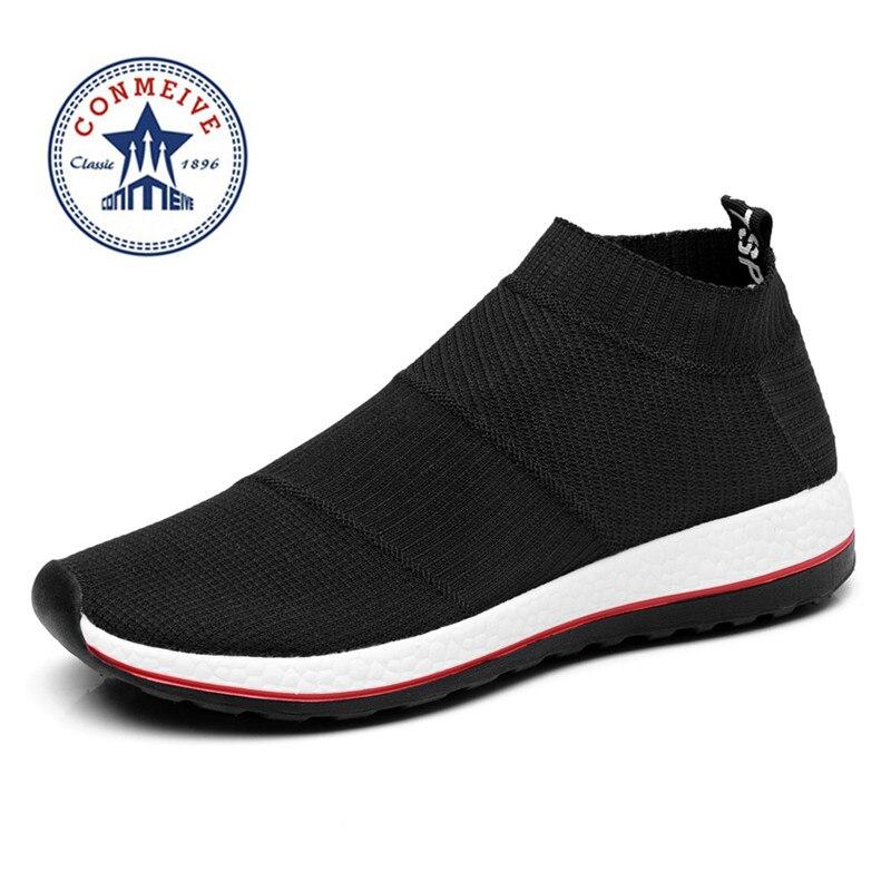 Vendita calda scarpe da corsa per uomo donna sneakers scarpa da tennis di sport a buon mercato Luce Runing Traspirante Slip-On Mesh (Air mesh) ampio (C, D, W)