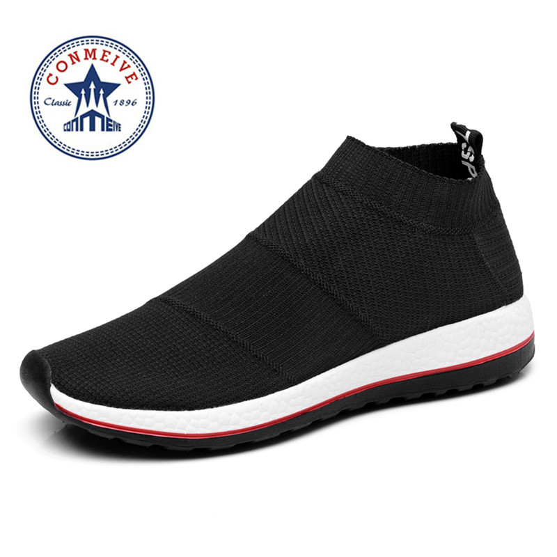 hot salg løpesko for menn kvinner joggesko sport sneaker billig Light Runing Pustende Slip-On Mesh (Air mesh) Wide (C, D, W)