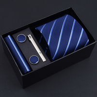 Caixa de presente Embalagem de 3.35 polegada (8 cm) grande Conjunto Gravata Para Os Homens Homem Gravata Formal do Negócio Laços Lenço Abotoadura Noivo Casamento