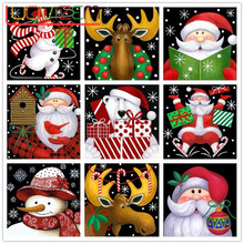 5D DIYDiamond Embroider Christmas Gift Diamond Paintings Cross Stitch Card Full Square/Round Drill  Home Decoration