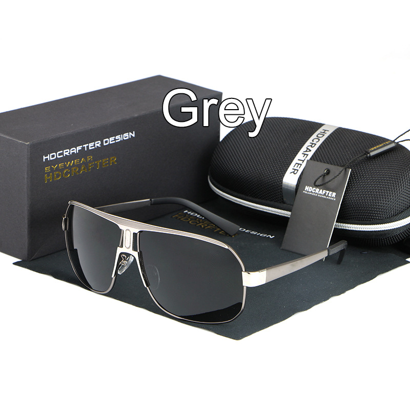 AOWEAR крутые мужские очки поляризованные солнцезащитные очки мужские роскошные брендовые Винтажные Солнцезащитные очки Модные солнцезащитные очки gafas de sol hombre - Цвет линз: C2 Gray