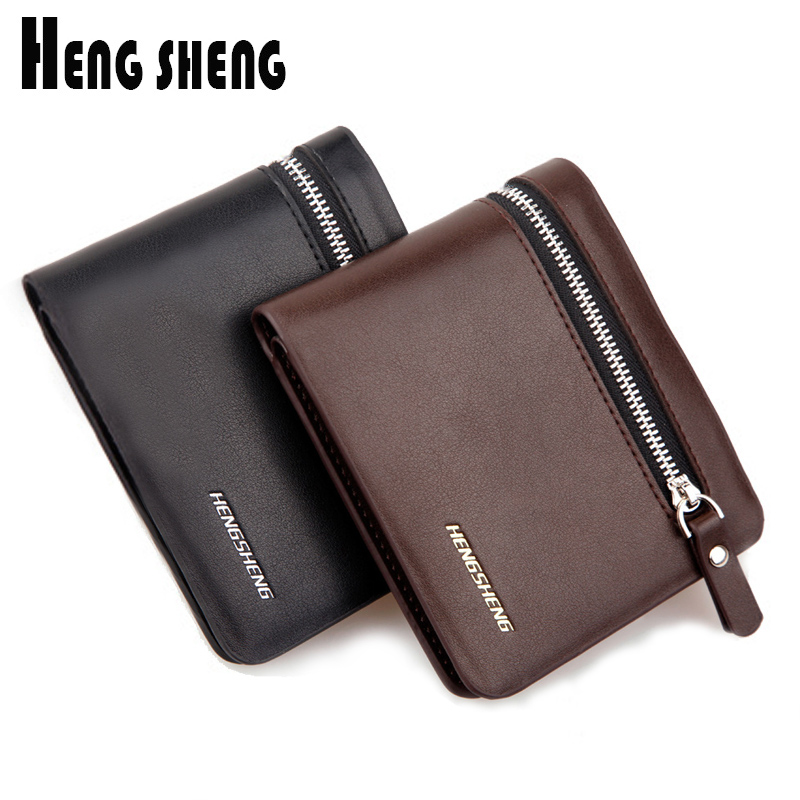 2017 New Men Soft Wallets PU Leather Male Short Thin Black Coffee Small Coins Dollar Price Wallet Purses Carteira Free Shipping