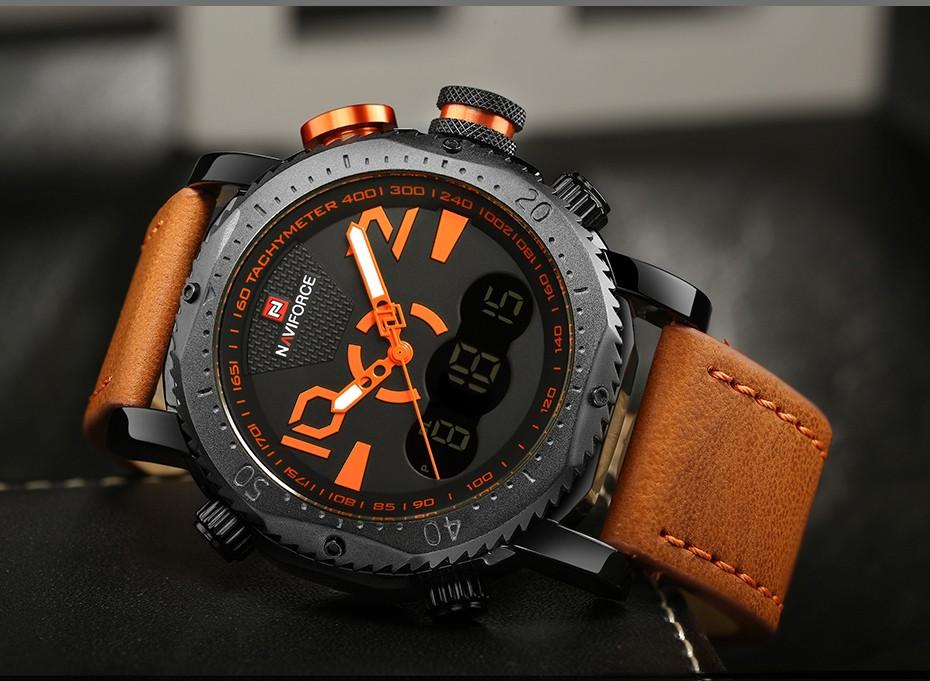 Военная 2018 календарная элитный бренд для мужчин аналоговый светодиодный часы кожи человека кварцевые часы для мужчин по униформа спортивные наручные часы Relogio мужской