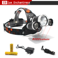 Best C-XM-L T6 8000 Lumen LED Headlamp Headlight Caming Hunting Head Light Lamp 4 Modes+2*18650 5000mah Battery + AC/Car Charger