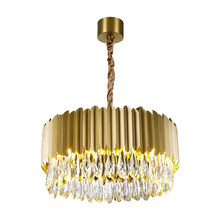 luxury crystal light chandelier stainless steel lamp AC110V 220v dinning room living room lights gold black chandeliers(China)