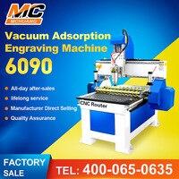Mchuang linear guideway carpintaria plaina cnc 6090 2.2kw mini gravura máquina de adsorção a vácuo tabela Roteadores de madeira     -