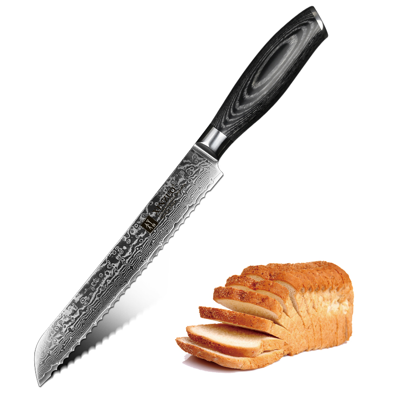 XINZUO 8 Bread Knife 67 Layers Japanese Damascus Stainless Steel High Quality VG10 Cake Knife Kitchen