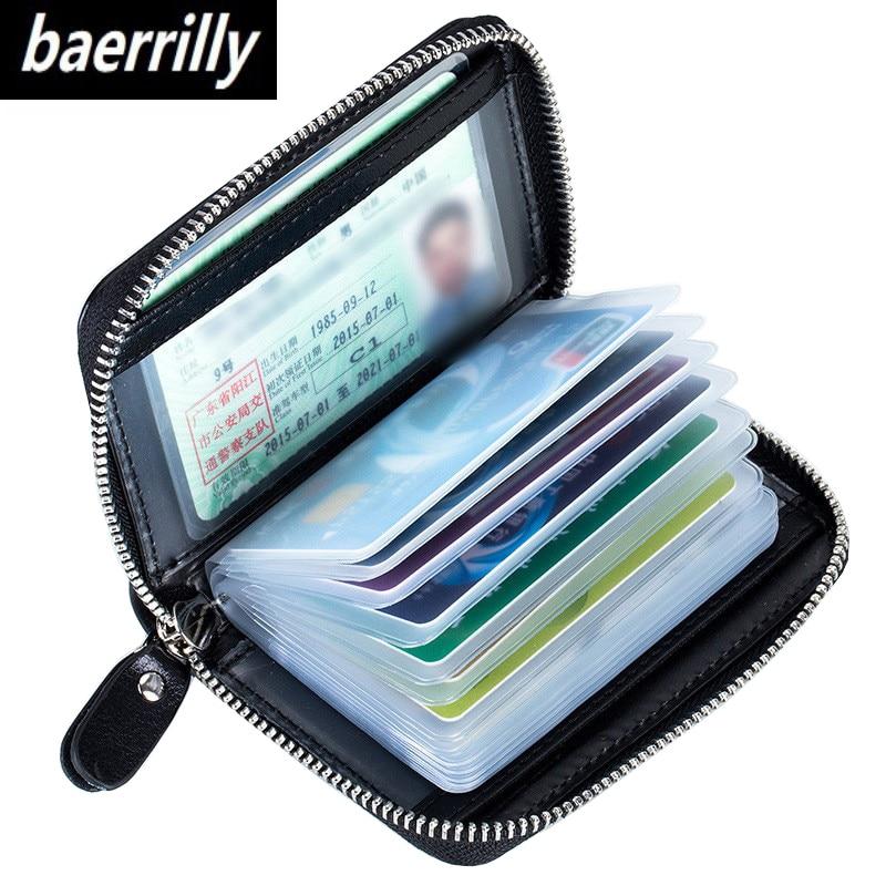 Ausdauernd Rfid Frauen Kreditkarte Halter Männer Brieftaschen Geld Tasche Aus Echtem Leder Brieftasche Führerschein Reisepass Geldbörse Zipper Geldbörsen & Halter