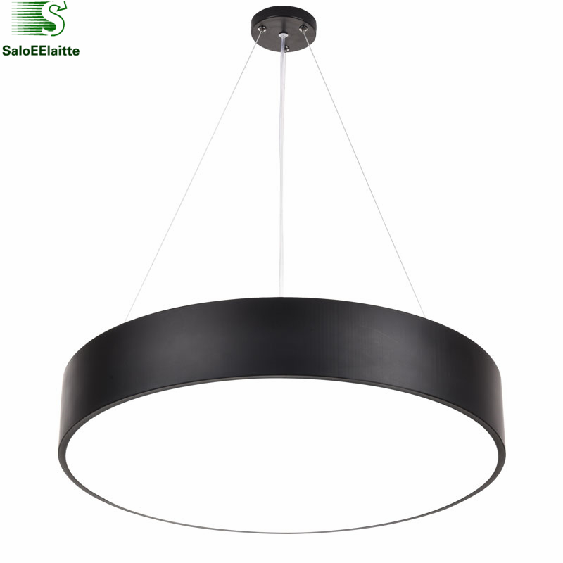 Modern Matte Metal Round Led Pendant Light Minimalism Pendant Fixtures Luminaria Lampares Led Hanging Light Suspension Lamp