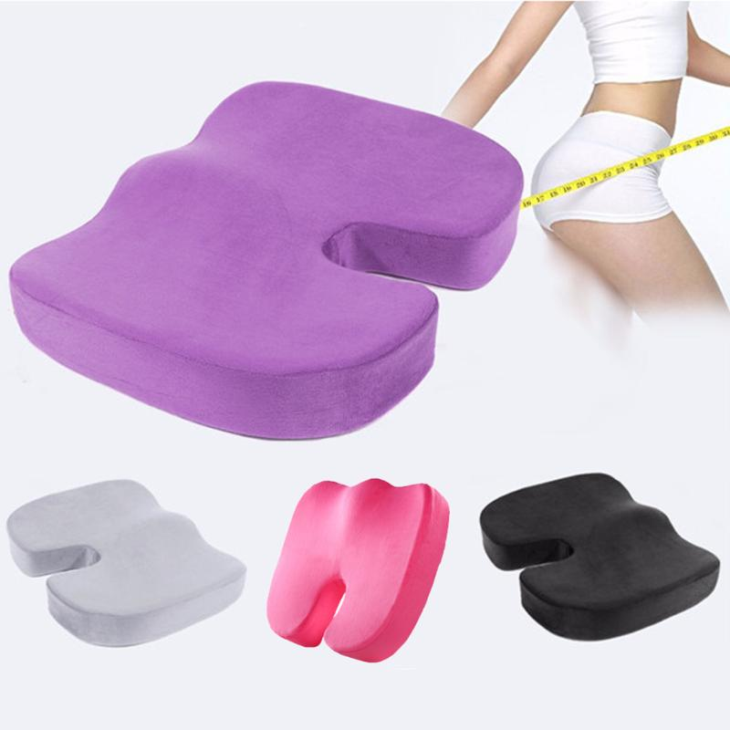 Travel Seat Cushion Coccyx Orthopedic Memory Foam U Seat Massage Chair Cushion Pad Car Office Massage Cushion(China)