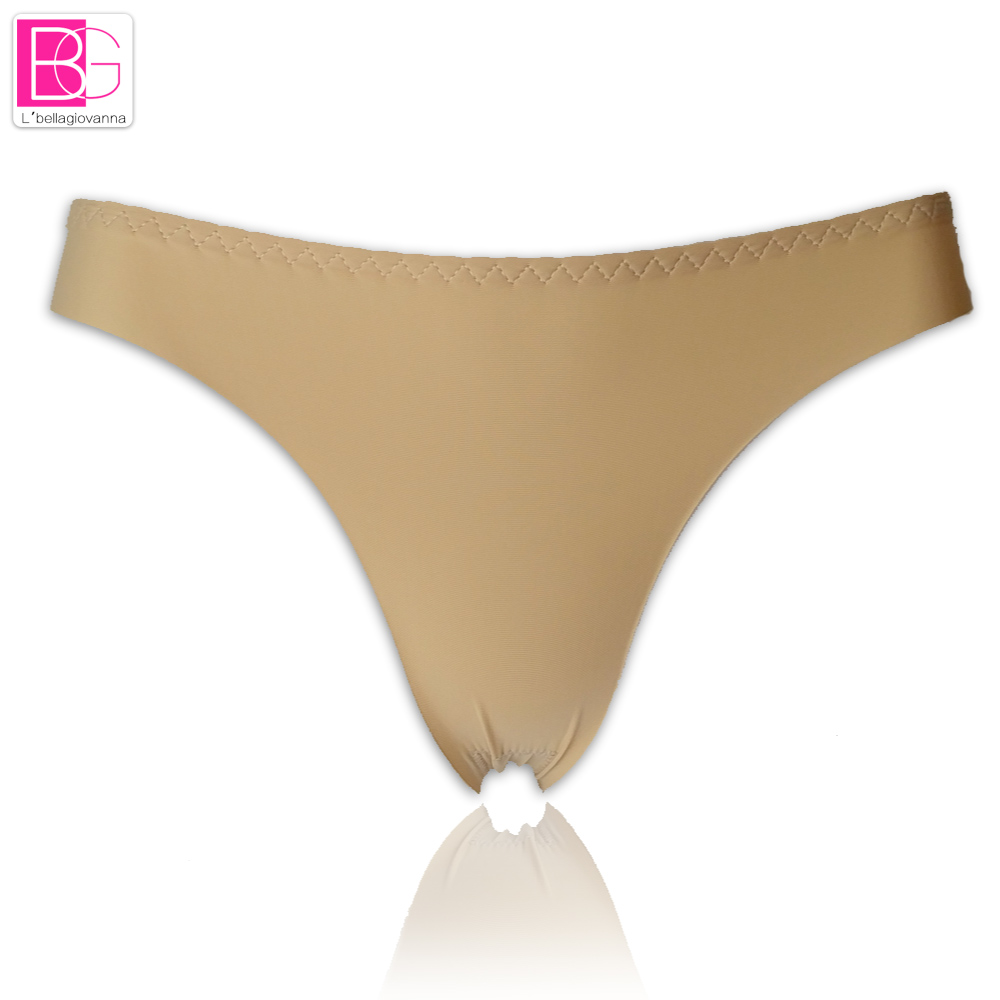 Lu0027bellagiovanna Women Ice Silk T Thongs Invisible Underwear Summer Female T  Panties Seamless Crotch