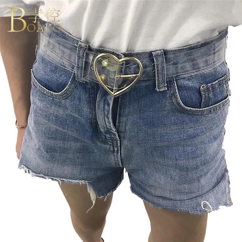 Women Waist   Belts   Resin Transparent Long Femal   Belt   Girls Adjustable harajuku Dress Band   Belt   For Ladies Heart Buckle   Belt   Z2