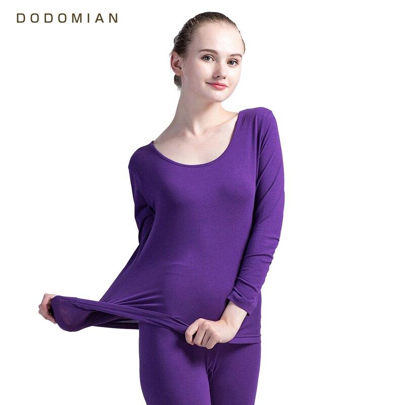 Women Long John Set Winter Warm Lingerie Tops+Pants Thermal Underwear High Quality Female Waist Cinchers Control Panties