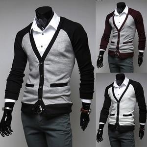 ZOGAA 2018 New hit color Raglan sleeves men's casual long sleeve cardigan