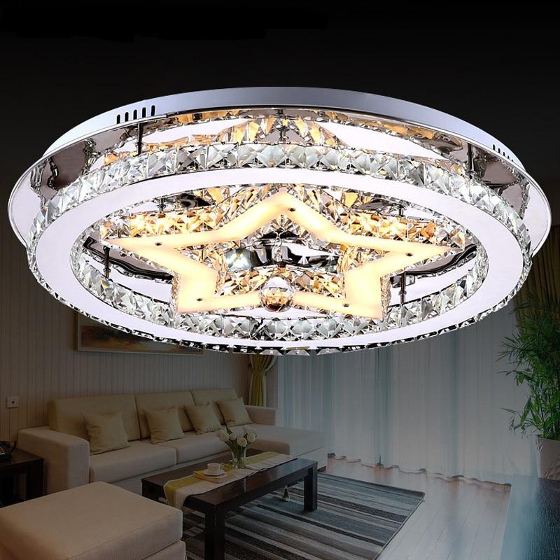 Licht & Beleuchtung Deckenleuchten & Lüfter Moderne Starten Runde Led-kristall Deckenleuchte Atmosphäre Wohnzimmer Kristall-deckenleuchte Kreative Schlafzimmer Lampe Za Zl486 SchöN In Farbe