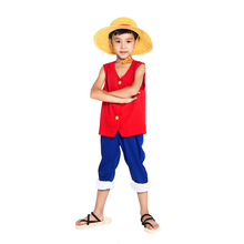 One Piece Cosplay Monkey D Luffy Costume 1st Generation Suit Childrens Wear
