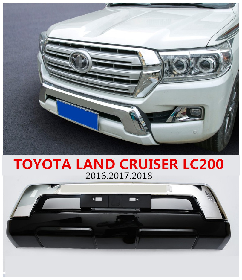 For TOYOTA <font><b>LAND</b></font> <font><b>CRUISER</b></font> <font><b>LC200</b></font> 2016 <font><b>2017</b></font> 2018 Front BUMPER GUARD Car BUMPER Plate High Quality Auto Accessories image